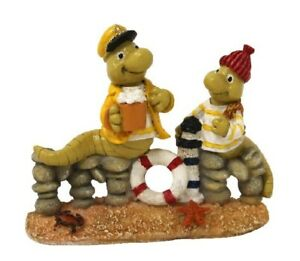 Lugworm Pair North Sea Ostsee Sea Poly Funny Model 10cm Moin