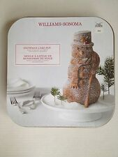 Williams Sonoma Nordic Ware 3D Snowman Cake Pan Baking Holiday Mold NEW