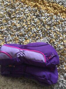 Head Junior Kids Ski Mittens Winter XS Fur Lined Purple Boys Girls