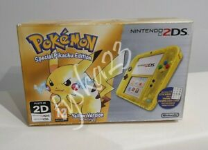 Nintendo 2DS Pokemon Special Pikachu Edition Yellow Version Game Installed