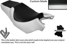 BLACK & WHITE CUSTOM FITS CAGIVA ROADSTER 125 DUAL LEATHER SEAT COVER ONLY