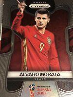 Panini Prizm World Cup 2018 Alvaro Morata Spain #199 Soccer Football Card