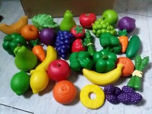 CHILDS KITCHEN LEARNING RESOURCES NEW SPROUTS FRUIT & VEGETABLE PLAY FOOD LOT