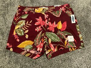 Old Navy Women's Everyday Floral Linen Blend Shorts 10 16 NEW