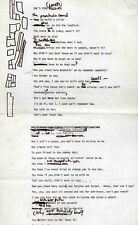 BOB DYLAN REPRO 1966 - SHE'S YOUR LOVER NOW - HANDWRITTEN LYRICS