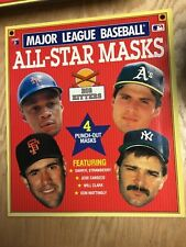 1989 MLB All Star Masks Big Hitters Book Mattingly, Clark, Canseco & Strawberry