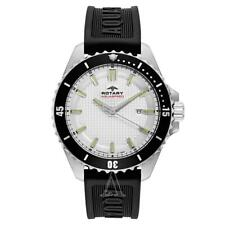 Rotary AGS00293/06 Aquaspeed White Dial Watch On Rubber Strap RRP £140.00