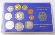 BRD Deutsche Mark Umlaufmünzenserie Set Erhard Strauß coin Schumacher München D
