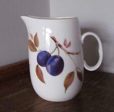 Royal Worcester EveshamPattern Jug - Plums, Peach & Berries, Gold Detail