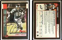 James Thrash Signed 2002 Bowman #73 Card Philadelphia Eagles Auto Autograph