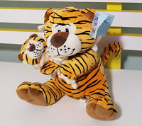 KIDDIES TIGER WITH BABY PLUSH TOY WITH TAG SOFT TOY 22CM TALL