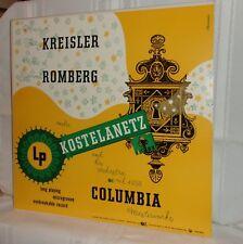 Andre Kostelanetz MUSIC OF KREISLER and ROMBERG Columbia Masterworks 1950 LP