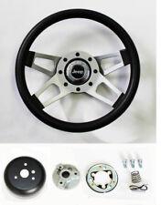 """Jeep CJ YJ Wrangler Cherokee Grant Black 4 spoke Steering Wheel 13 1/2"""""""