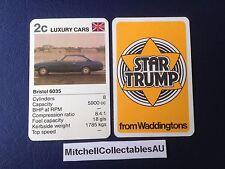 Waddington Star Trump 1978 Single card Luxury Cars Bristol 6035
