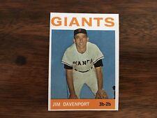 1964 Topps Baseball Card JIM DAVENPORT #82 EXMT+