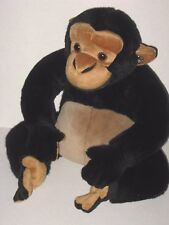 Disney World Animal Kingdom Black Tan Chimp Monkey Ape Plush Stuffed Animal Toy