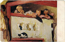 1920's Rare Russian postcard reproduction of painting On Polaty by N.Kharitonov