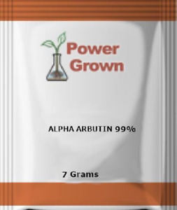 Alpha Arbutin Powder 99% Purity 7 Grams (1/4oz) Skin Lightener water soluble