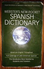 Webster's New Pocket Spanish Dictionary Students Traveler's
