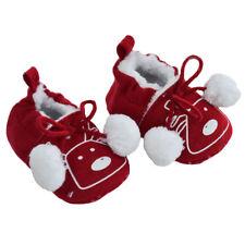 Soft Touch chaussures bébé souple  rouge  fourrée motif rennes 0 à 12 mois