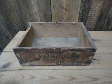 Vintage Wooden Crate Box Cadburys Harlequin Drops Display Collectors H7
