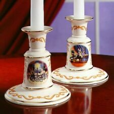 2 Lenox Disney Candleholders-Retired-New -Mickey Mouse Donald Duck-Great Gift!