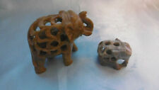 figurines elephants en pierre steatite