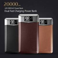 20000mAh Dual USB LCD Portable Power Bank External Battery Backup Phone Charger