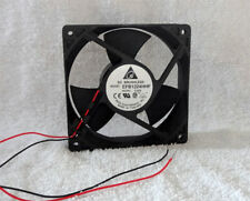 "Delta EFB1224HHF 120mm x 32mm Fan 24V DC Bare Leads 12"" Wires Made in Thailand"