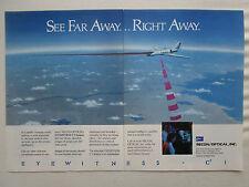 8/1990 PUB RECON OPTICAL EYEWITNESS C3I AIRBORNE SURVEILLANCE SYSTEM ORIGINAL AD