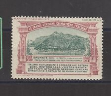 Italian Poster Stamp Wwi Brunate Health Resort
