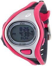 NEW Asics CQAR0306 Unisex Challenge Pink Digital Running Watch 500 lap chrono