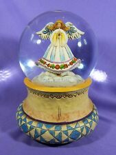 """Jim Shore """"Angel on Wing"""" From 2007 #4008848 Musical Snow Globe Excellent NICE"""