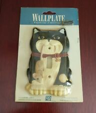 Switch Plate Vintage Cat With Mouse Switch Plate  1995