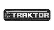 "Traktor 2""x0.5"" Chrome Domed Case Badge / Sticker Logo"