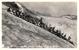 ?Vintage Postcard 1947 Nature Coasting on Paradise Glacier Rainer National Park