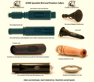 Specialist Acme Predator and Bird Call Whistles. Duck, Fox, Crow, Magpie