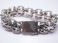 Sterling S925 Silver Chain For Men Male Circle Domineering Thick Style Bracelet
