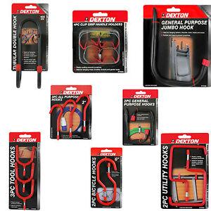 Storage Hooks General Purpose  Double Utility Tool Bike Clip Grip Shed Garage
