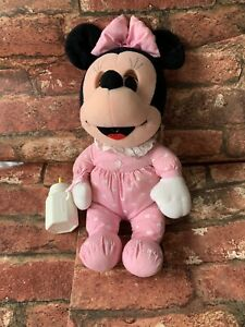 Vintage Playskool Baby Minnie Mouse Eyes Shut With Bottle Toy Plush Doll Rare 15