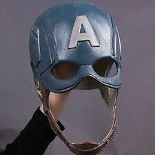 Captain America Mask Avengers Infinity War Mask Halloween Cosplay Latex Helmet