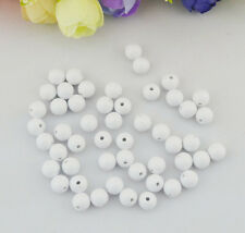 Free Shipping New 50PCS 8*8mm White Bead Resin Beads Sew on p7