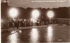 Swimming Baths Wembley by night unused RP old pc Valentines