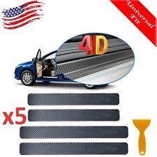 Carbon Fiber Car Door Plate Sill Scuff Cover Anti Scratch Sticker Accessories 4x