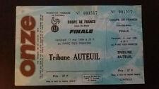 TICKET METZ MONACO FINALE COUPE DE FRANCE 1984 Place Billet UNUSED NEUF