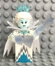 from 71013 Series 16 New Lego Ice Queen Minifigure with Cape /& 2 Ice Swords