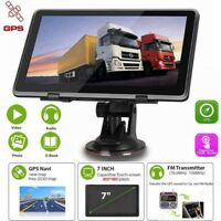 "8GB 7"" Touch Screen Car/Truck GPS Sat Nav Navigation System FM UK+EU maps"