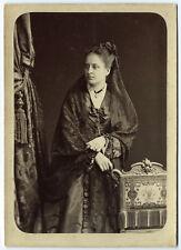 photo cdv cab. noblesse - l'élégante Mathilde de Monteynard vers 1870