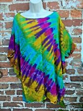 Ladies hippie/boho/alternative tie dye top/dress free size
