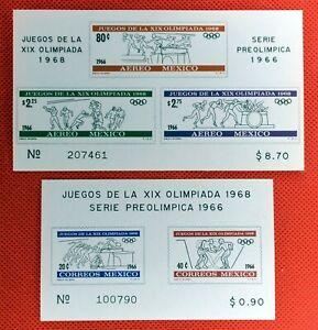 ZAYIX - 1965 Mexico 975a, C320a MNH Olympics souvenir sheets